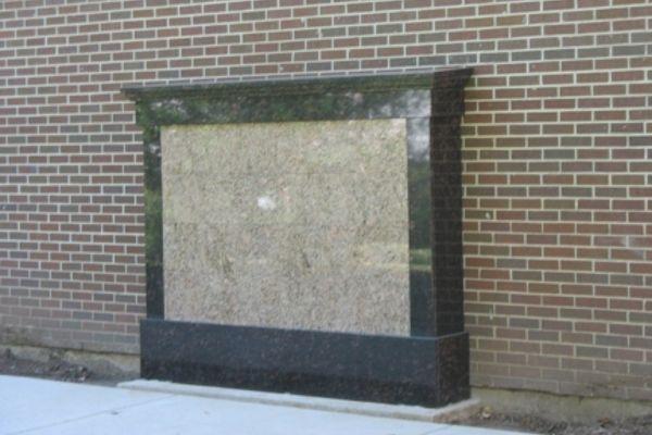 wall addon brown gold granite columbarium