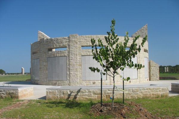 curved convex double-sided white granite columbarium