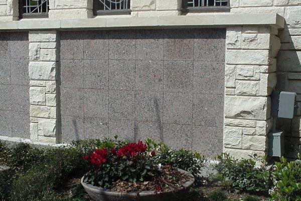 flat insert pink granite columbarium