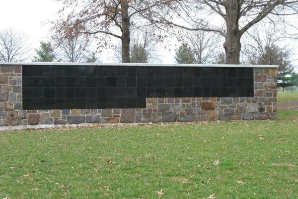stepped flat insert black granite columbarium