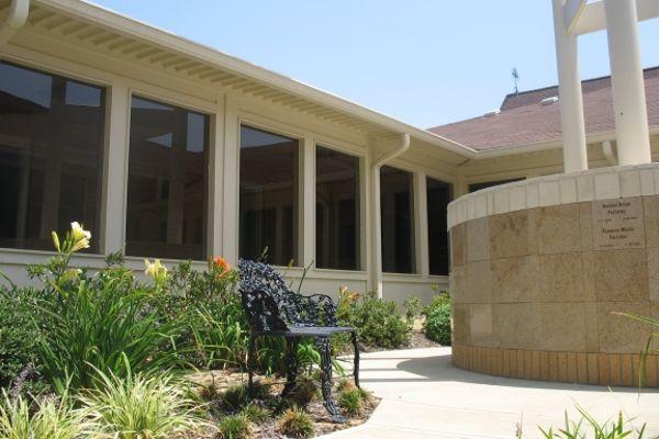 round curved  insert gold granite columbarium