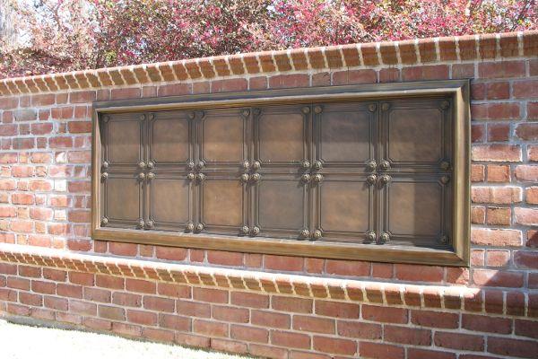flat insert bronze granite