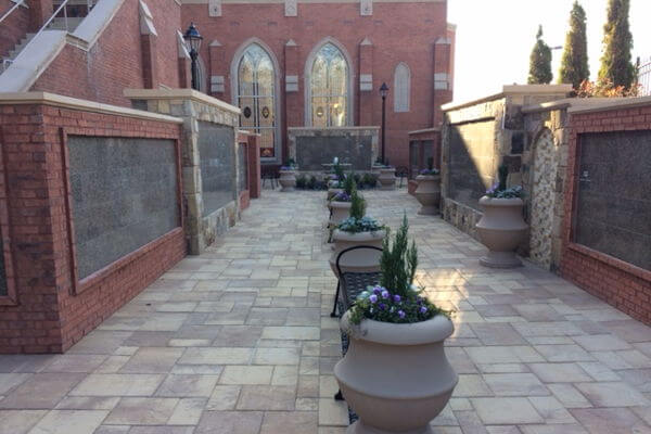 flat insert green granite columbarium
