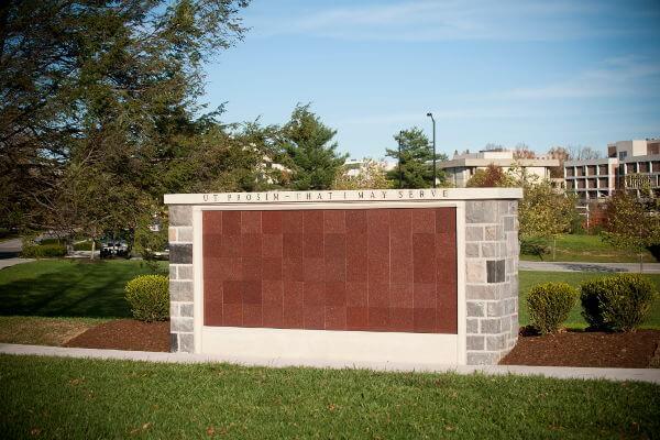 flat insert red granite columbarium