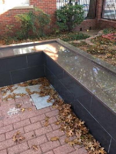 ground niche gray granite columbarium