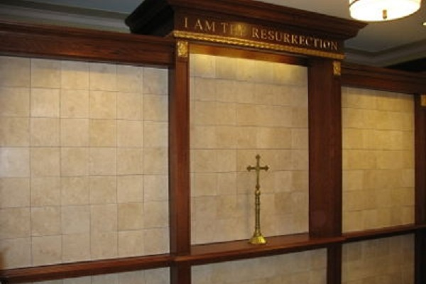 flat insert white marble columbarium
