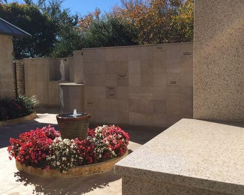 flat insert gold granite columbarium