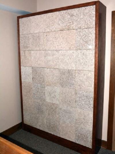 flat insert gray granite columbarium