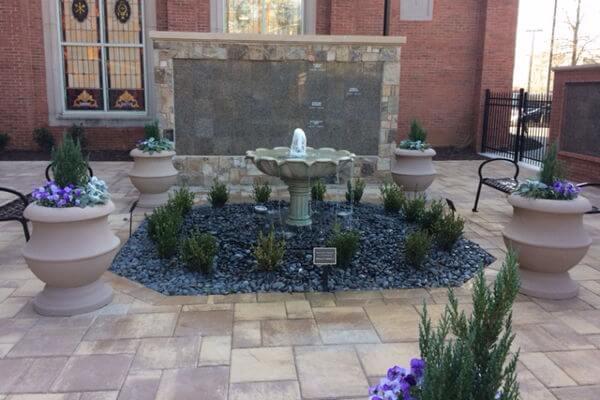 flat insert brown granite columbarium